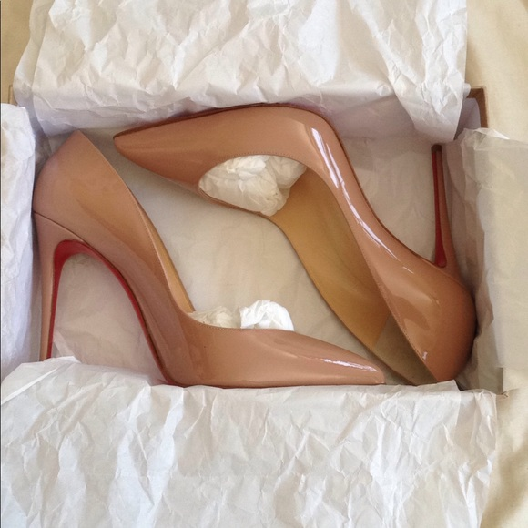 dd9ee091d223 NWT Louboutin Nude Patent Pigalle Follies Size 40
